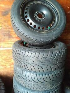 FORD FOCUS WINTER TIRES AND RIMS 215/55R/16 OEM FOR RIMS 2011 2012 2013 2014 2015 2016 FORD FOCUS