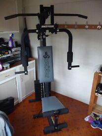 Weider 200lbs bench press powerguide x 2 multigym