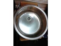 stainless steel round sink