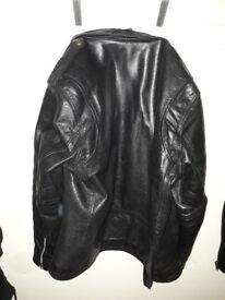 Black Biker Leather Jacket size 46 £30