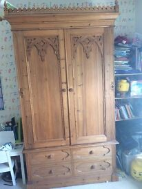 complete set wardrobe, chest of drawers, 2 bedside lockers