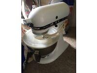 White kitchen aid food mixer