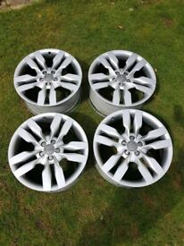 GENUINE AUDI S6 4F ALLOY WHEELS RS6 A6 A4 S4 RS4 TWIN 5 SPOKE FUNDO TWIN 5 SPOKE