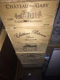 Wine Boxes wooden storage boxes