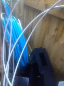 MDPE blue 25mm pipe x approx 70m normally £40 in screwfix