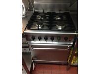 Four burner + oven Gas
