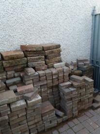 Used paving bricks and garden wall bricks.