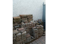 Used paving bricks and garden wall bricks.
