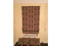 Pair of immaculate Roman blinds