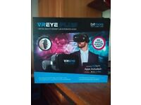VR eye plus headset with integrated audio