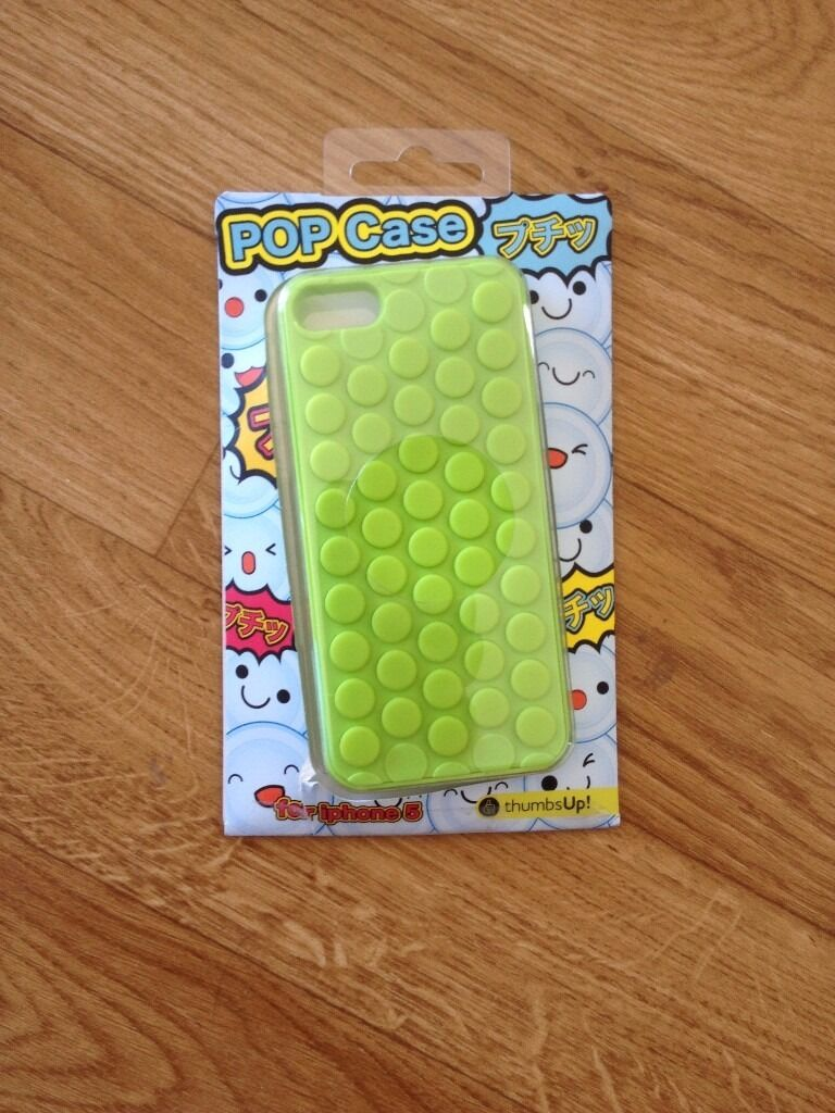 "iPhone 5/5S/5SE Pop casein LondonGumtree - Brand new green iPhone cover, its coming from japan, its a ""pop case"", you can press all the button that simulate the bubble wrap experience. Quite funny and distressful ! Quite rare to find here. Got it from a friend but never used it and I..."