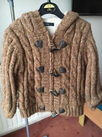 Boys winter cardigan/coat age 2-3