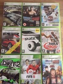 Xbox 360 games x9