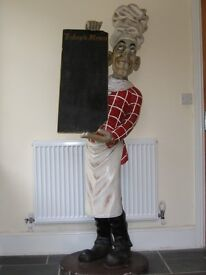 6 FOOT CHEF WITH MENU BOARD