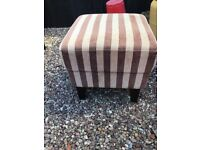 Next Brown and beige striped arm chair and footstool very good condition