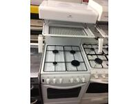 White new world eye level gas cooker grill & oven good condition with guarantee