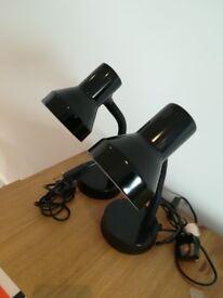 2 Desk lamps - black - wilko