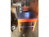 Lovely child desk with storage and chair