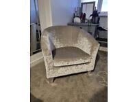 Silver Tub Chair