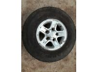 landrover Defender 90 110 130 16 inch boost alloy with 235 85 16 general grabber tr all terrain tyre
