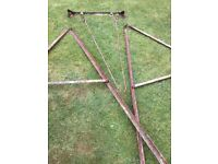 Child's Vintage 1960's Metal Garden Swing. Dismantled. 1 owner from new.