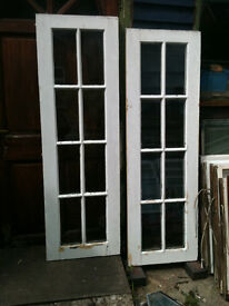 Wooden window inserts x2 with single payne glass