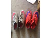 2 Pairs of Nike Mercurials (Size 10)