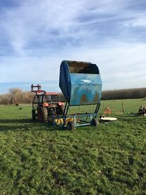 Paddock sweeper, poo picker manure collector