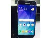 Samsung Galaxy S6 Smart Mobile phone unlocked. good condition Black 32GB WITH warranty & Receipt