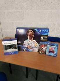 PS4 Slim Brand New (inc. 2 Controllers, FIFA 18, Gran Turismo & Singstar)