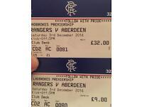 Rangers v Aberdeen Tickets