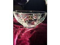 Royal Doulton Keswick, fine lead crystal fruit bowl
