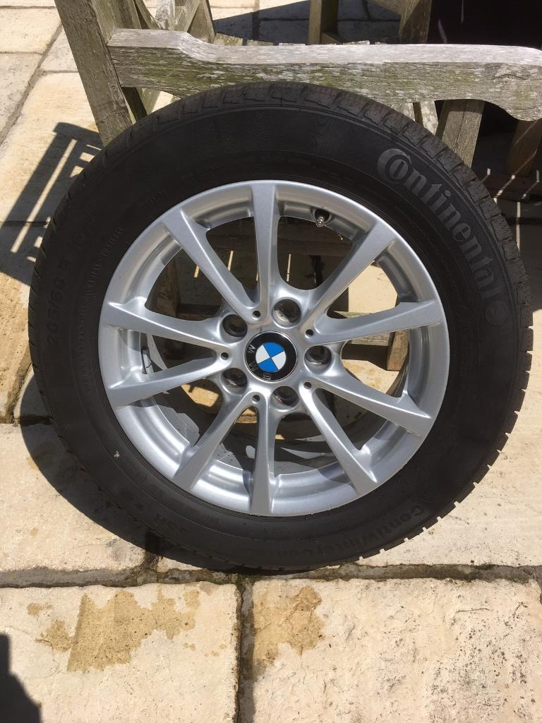 """4 BMW winter wheels and tyresin Abingdon, OxfordshireGumtree - 4 x BWM 16"""" alloy wheels and winter run flat tyres (Continental).Tyre measurements 205/60 R16 92H.From a F30 BMW 320d Saloon (2012 Reg).Excellent condition no cracks, repairs or damage of any kind.Cost 1100 pounds new.Only used for 2 months. Reason..."""