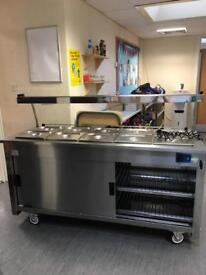 Kitchen unit hot cupboard and Bain Marie