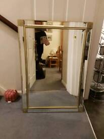 Gold Plated Leaf Large Mirror
