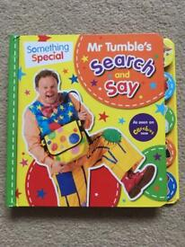 Mr Tumble's Search and Say board book. Excellent condition.