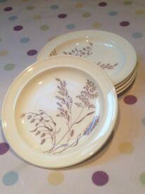 """Vintage J&G Meakin, England 'Windswept' 7"""" Tea Plates - Great Portland Street, W1W"""