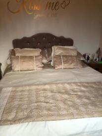 Double Bed with Headboard, memory foam mattress