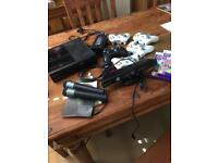 X box 360 with 5 controllers and games