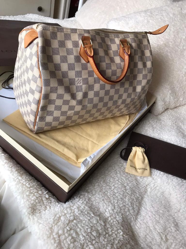 daf77ab0ac0b 100% Authentic Louis Vuitton Speedy Damier Azur 35