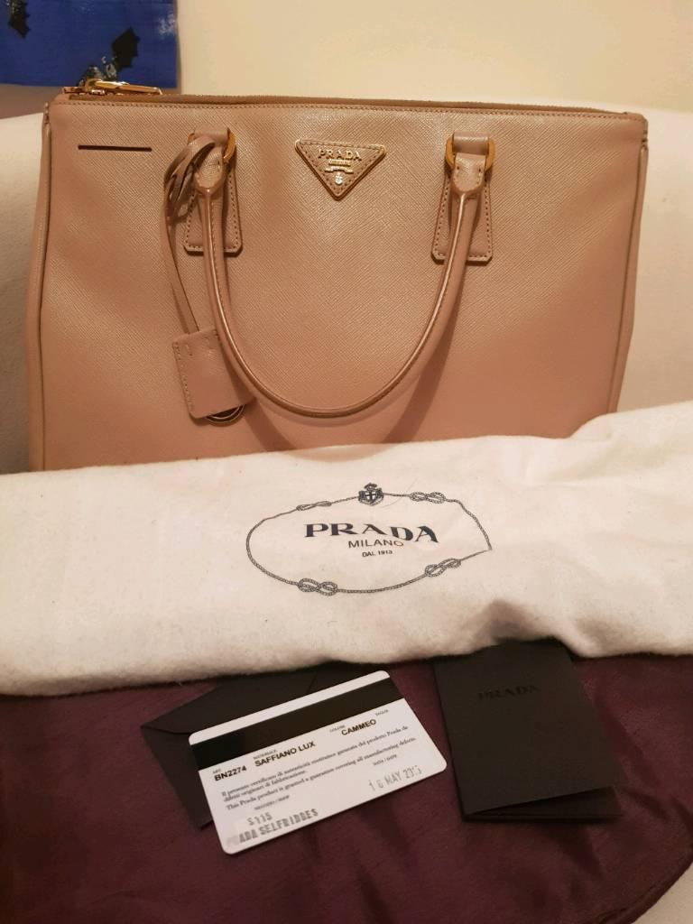 608b31e498 Authentic Prada Saffiano Lux Tote Bag Nude