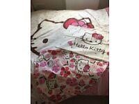 Hello Kitty single bedding and 1 pillow case