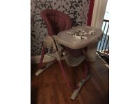 Chicco Polly Magic Rose high chair for babies and toddlers