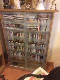Glass fronted DVD/Book cabinet - £50 ONO