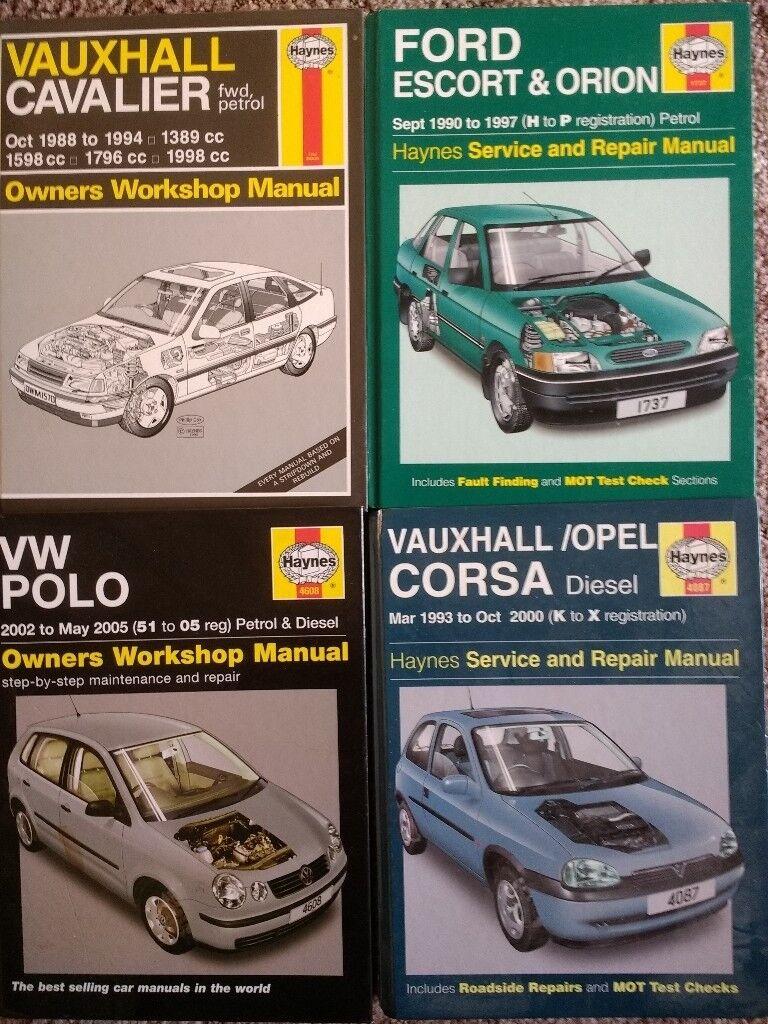 Haynes manuals for Cavalier, Corsa, Polo and Escort
