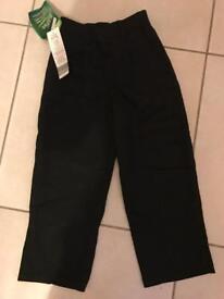 Brand new boys black school trousers