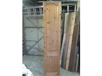 Tall pine wardrobe