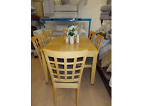 DINING TABLE + 6 DINING CHAIRS