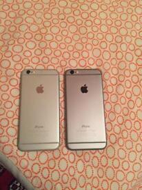 2 I phone 6 unlocked 16 GB £ 400