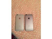 2 I phone 6 unlocked 16 GB